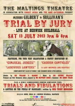 Poster of 'Trials & Fibulations - A Lecture on the Perils of Marriage' written by Trudy Morrison