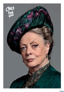 A drag version of Lady Grantham from Downton Abbey