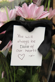 Floral tribute to Simon Duke