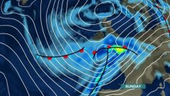 Weather map of southern gales, NOT The Berwickshire Advertiser