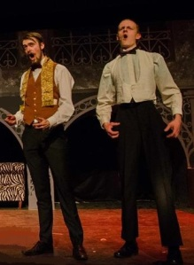 David Simpson and Jonathan Combes as Andre and Firmin in Maltings Youth Theatre's production of The Phantom of the Opera