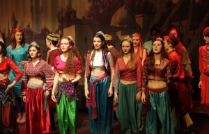 The chorus of Phantom of the Opera, Maltings Youth Theatre, Berwick-upon-Tweed