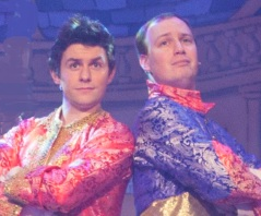 Finlay Bain and Ross Graham in Cinderella, Bespoke Theatre Limited